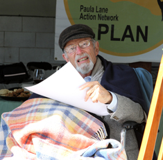 Paul Selinger enjoys a community gathering in 2012